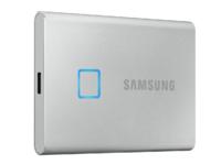 1,0 ТБ (USB3.2 / Type-C) Samsung Portable SSD T7, серый (85x57x8 мм, 58 г, R / W: 1050/1000 МБ / с)