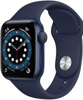 Apple Watch Series 6 40mm Blue Aluminum Case with Deep Navy Sport Band, MG143