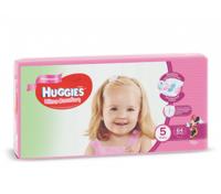 Huggies scutece Ultra Comfort 5 pentru fetițe, 12-22 kg, 64 buc.