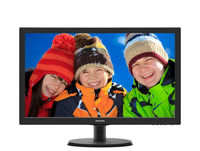"""21.5"""" Philips """"223V5LHSB2"""", Black (1920x1080, 5ms, 200cd, LED10M:1, HDMI, D-Sub, Headphone-Out) (21.5"""" TN LED, 1920x1080 Full-HD, 0.248mm, 5ms, 200 cd/m², DCR 10 Mln:1 (1000:1), 16.7M Colors, HDMI + Analog D-Sub, HDMI Audio-In, Headphone-Out, Built-in PSU, Fixed Stand (Tilt -5/+20°), VESA Mount 100x100, Black-Hairline)"""