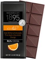 Ciocolată neagră fină Weinrichs 1895 Fine Dark Chocolate Noir 85%  cu ulei de portocală