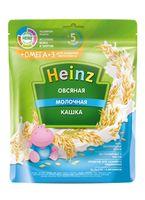 Каша Heinz Омега3 овсяная с молоком, с 5месяцев, 200г