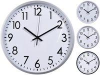 Часы настенные круглые 3 дизайна D30cm, H3cm, пластик, белый