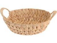 купить Корзина плетеная D24сm,H8cm, с ручками, тростник, натуральны в Кишинёве
