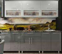 Кухонный гарнитур Bafimob Modern (High Gloss) 2.4m glass White/Grey