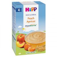 Hipp каша рисово-кукурузная молочная с пробиотиками, персики-абрикосы, 4+мес. 250г