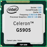 Intel® Celeron® G5905, S1200, 3.5GHz (2C/2T) Tray