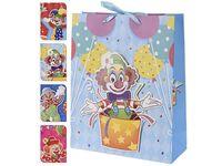 """Пакет для детских подарков """"клоун"""" 24X18X8cm, бумага, 4вида"""