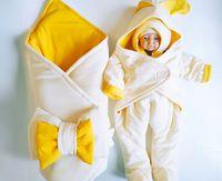 Конвертик PAMPY Yellow+Комбинезон+ шапочка (0-6 месяцев)