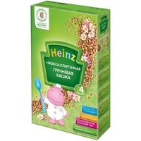 Heinz каша гречневая безмолочная низкоаллергенная, 4+меc. 200г