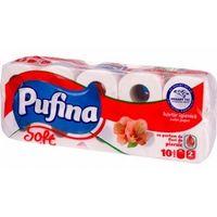 Pufina туалетная бумага персик, 2 слоя 10 рулонов