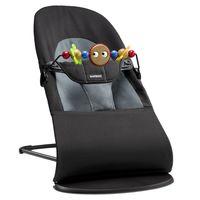 Кресло-шезлонг  BabyBjorn Balance Soft Black/ Grey с игрушкой