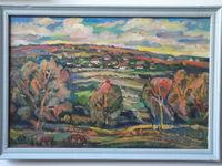 Пейзаж со старыми деревьями, 56x84 см., холст, масло