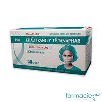 Masti chirurgicale N50 (4 straturi cu elastic negru-alb) (Tanaphar)