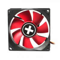 120mm Case Fan - XILENCE XPF120.R Fan, 120x120x25mm, 1300rpm, <21dBa, 44.7CFM, hydro bearing, Big 4Pin and 3Pin Molex, Black/Red
