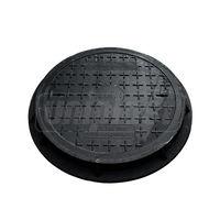 купить Крышка с рамой для колодца ф.600 х  30/ 2т черн. (650x45x16kg) в Кишинёве