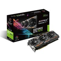 """VGA card PCI-E ASUS STRIX-GTX1070-8G-GAMING NVIDIA GeForce GTX 1070,8GB DDR5 256-bit, Engine1506/1683MHz, Memory 8008 MHz, Active Cooling  DVI-D,HDMI 2.0x2,DPx2."""