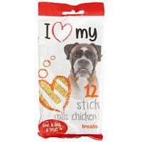 """""""I LOVE MY DOG """" палочки со вкусом курицы,12шт,100г"""