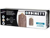 Чехлы для одежды 4шт 62X95cm Ordinett прозрачный, п/э
