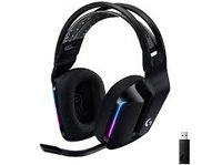 Беспроводная игровая гарнитура Logitech G733, драйверы 40 мм, 20-20 кГц, 39 Ом, 87,5 дБ, RGB, 2,4 ГГц / 3,5 мм, черный