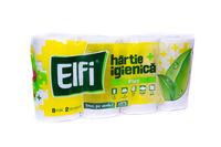 Туалетная бумага ELFI PLUS 8 рулонов 2 слоя 175 листов 12x9.7 чм