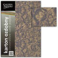 ARGO Картон GPAPIERU Roses A4, 250г/м2 шоколадный