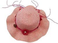 купить Шляпа детская летняя D28cm, с тесьмой и цветами в Кишинёве