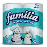 Familia  бумажные полотенца, 2 слоя, 4 рулонов