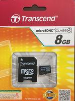 Карта памяти MicroSDHC  Transcend 8GB