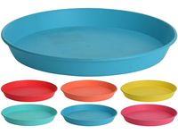 Set farfurii EH 6buc D22.5cm, H3cm, 6 culori, plastic