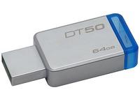 KINGSTON 64GB USB3.1 DataTraveler 50, серебристый