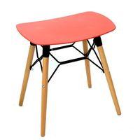 купить Пластиковый стол, деревянные ножки с металлической опорой 470x355x490 мм, красный в Кишинёве