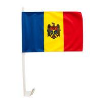 купить Флажок автомобильный с кронштейном - Молдова или других стран - 40x30 см в Кишинёве