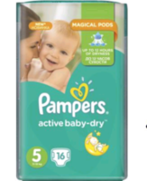 Pampers Scutece Regular 5, 11-18 kg, 16 buc.