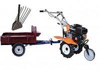 Set motocultivator TECHNOWORKER HB 700N+Remorca RK500 + plug cartofi
