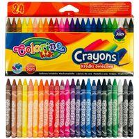 Creioane de ceară 24 de culori Colorino