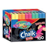 Cretă  colorat 100 buc. Colorino
