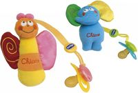 Chicco цепочка с плюшевой игрушкой для  пустышки