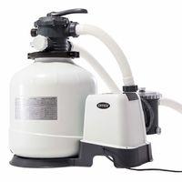 Intex песочный фильтр насос с хлоргенератором Кrystal Clear 12000 л/ч