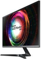 "28.0"" SAMSUNG ""U28H750UQU"", Black (TN-QLED 4K-UHD, AMD FreeSync 1ms, 300cd, Mega ∞ DCR, DP+HDMI) (28.0"" TN Q-LED, 3840x2160 4K-UHD, AMD FreeSync 1ms, 300 cd/m², Mega ∞ DCR, sRGB 1.07Billon Colors, 170°/160° @C/R>10, DisplayPort + HDMI x2, External Power Adaptor, Fixed stand Tilt: -2°/+20°, VESA Mount 100x100, Eye Saver Mode, Flicker-Free, MultiView: PIP/PBP mode, Black & Metallic Silver)"