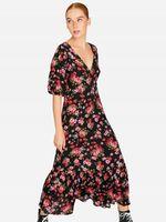 Платье Stradivarius Черный в цветочек 6359/601/001