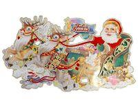 """купить Картинка-декор на окно/стену """"Дед Мороз на санях"""" 95cm в Кишинёве"""