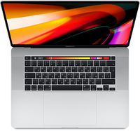 "Laptop Apple MacBook Pro, 16"" Silver, Retina 3072x1920, Intel Core i7-9750H 2.6GHz-4.5GHz, DDR4 16GB, SSD 512GB, Radeon Pro 5300M 4GB GDDR6, 802.11ac, 4xThunderbolt v3  4xUSB3.2-C Alternate Mode, Mac OS Catalina, RU, 100Wh, 2Kg (MVVL2)"