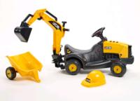 Falk Трактор экскаватор JCB с прицепом и шлемом