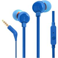 Наушники с микрофоном JBL T110, Blue