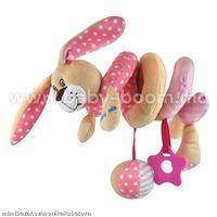 """Baby Mix STK-17507P Спираль для коляски """"Зайчик"""" розовая"""
