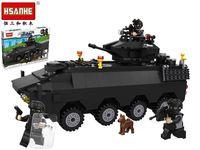 Конструктор HSANHE Танк спецназ 40X29.5X6cm, 418дет.