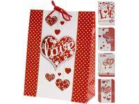 """купить Пакет подарочный """"Valentine"""" с сердцем, 24X18X8cm в Кишинёве"""