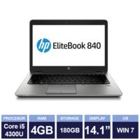"Ноутбук HP EliteBook 840 G1 Black (14,1"" | Intel Core i5 4300U | 4GB RAM | 180GB SSD | Windows 7)"