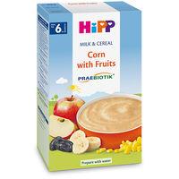 Terci organic Hipp din porumb și fructe cu lapte (6+ luni), 250gr.